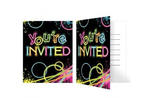 Glow Party Invitations 8/pcs