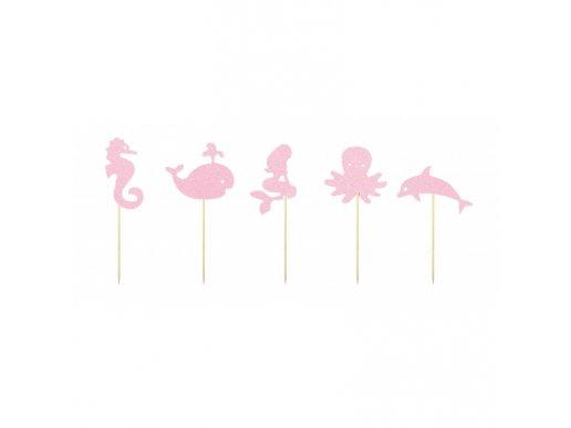 Decorative Picks Mermaid Glitter 9pcs