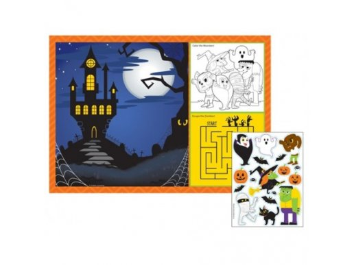 Halloween Placemats with activities and stickers (8pcs)