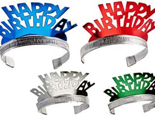 Happy Birthday Tiaras 4/pcs