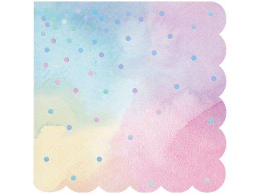 Iridescent Dots Beverage Napkins 16/pcs