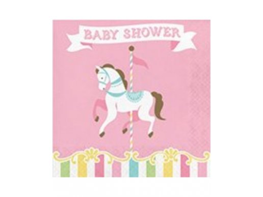 Carousel Baby Shower luncheon napkins 16/pcs