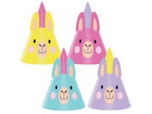 Llama Party Hats 8/pcs
