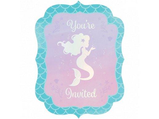 Mermaid Shine Party Invitations 8/pcs