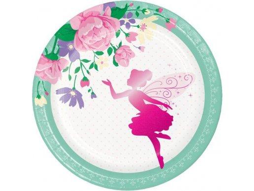 Fairy Sparkle Small Paper Plates 8/pcs