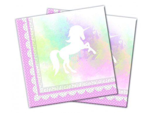 White Shadow Unicorn Luncheon Napkins (20pcs)
