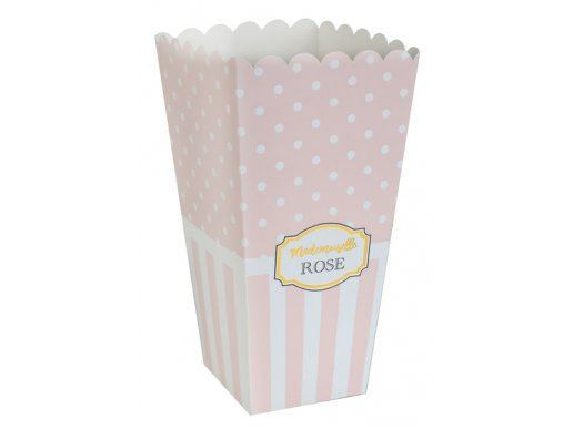 Madenoiselle Rose Pink Paper Treat Boxes (8pcs)