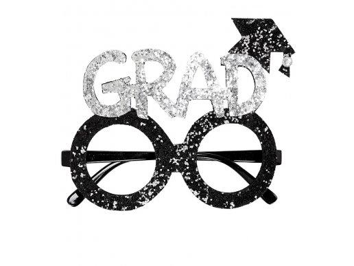 Black Plastic Graduation Glasses