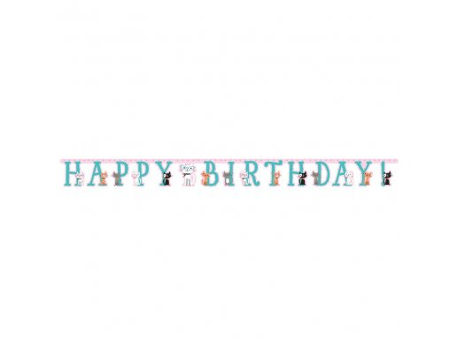 Pur-Fect Party Happy Birthday Banner
