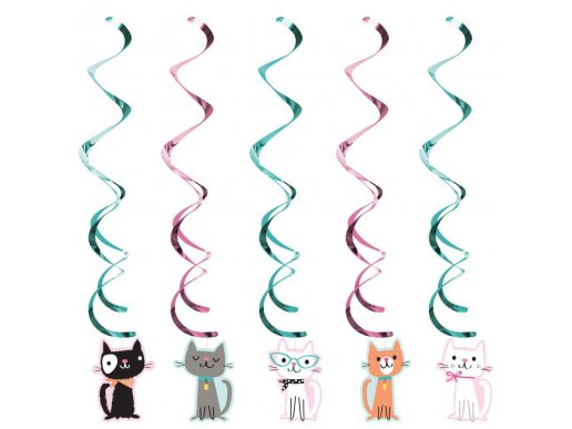 Pur-Fect Party Hanging Swirl Decoration 5/pcs