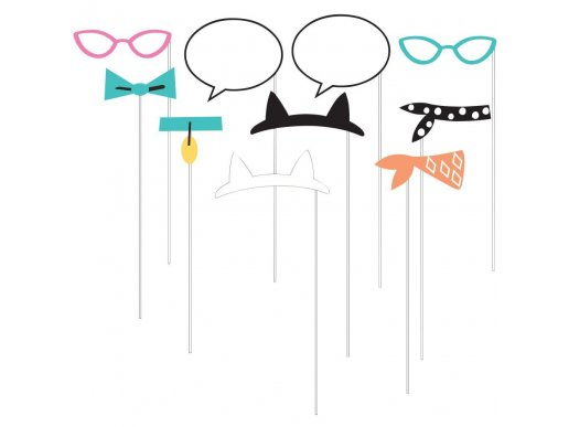 Pur-Fect Party Photo Booth Props 10/pcs