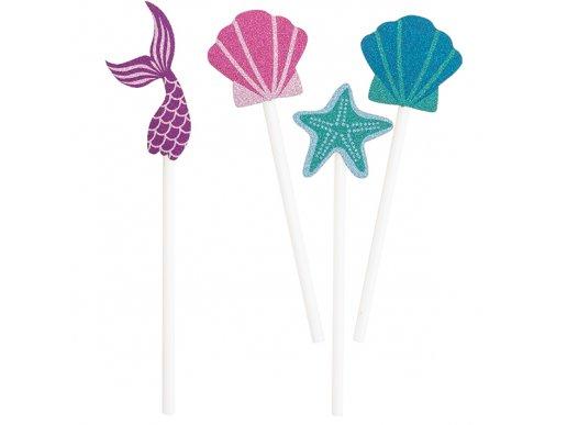 Mermaid Party Decorative Sticks 8/pcs