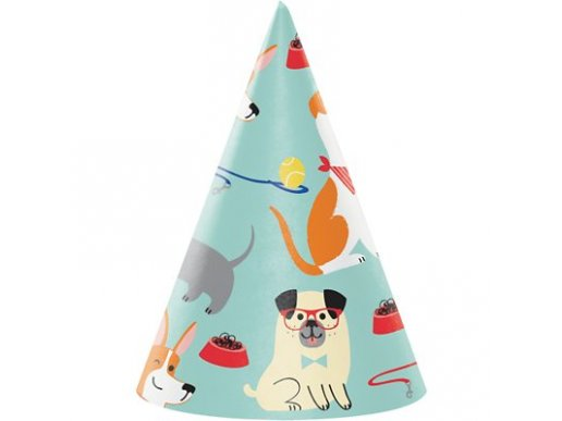Dog Party Hats (8pcs)