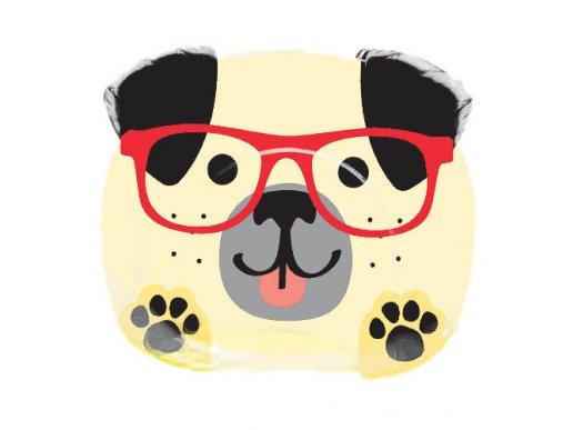 Πάρτυ Με Σκύλους Πιάτα Με Σχήμα (8τμχ)