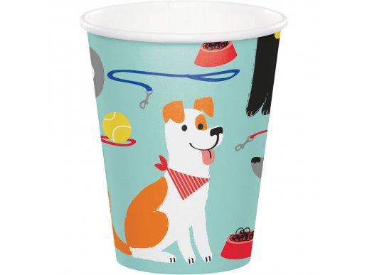 Dog Party Paper Cups 8/pcs