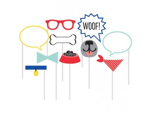 Dog Party Photobooth Props (10pcs)