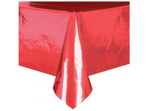 Μεταλλικό Κόκκινο Πλαστικό Τραπεζομάντηλο