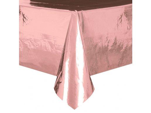 Metallic Rose Gold plastic tablecover