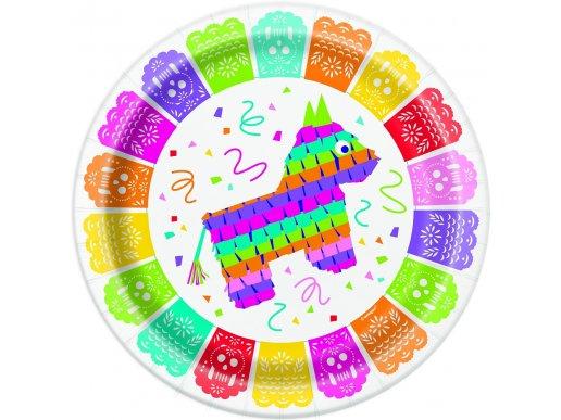 Mexican Pinata Fiesta Μεγάλα Χάρτινα Πιάτα (8τμχ)