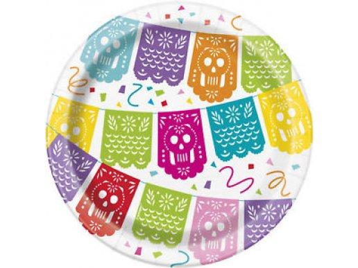Mexican Pinata Fiesta Small Paper Plates (8pcs)