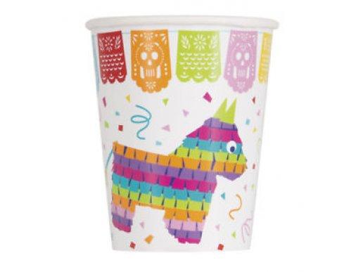 Mexican Pinata Fiesta Χάρτινα Ποτήρια (8τμχ)