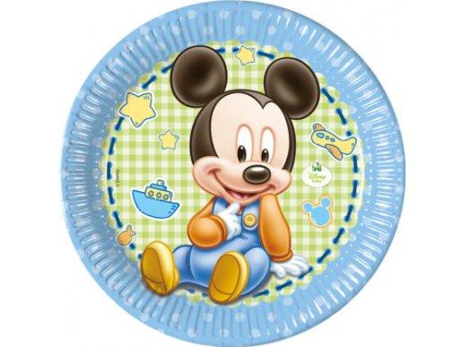 Μίκυ-Mickey Μπεμπέ Μεγάλα Χάρτινα Πιάτα (8τμχ)