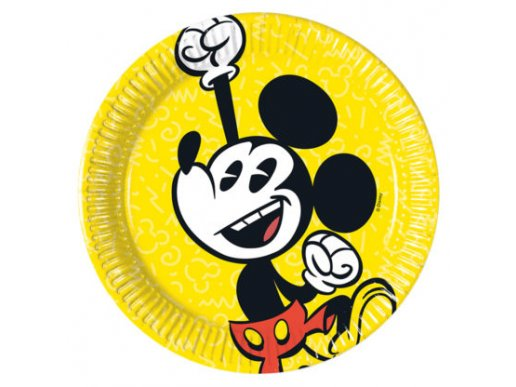 Μίκυ-Mickey Σούπερ Κούλ Μικρά Χάρτινα Πιάτα (8τμχ)