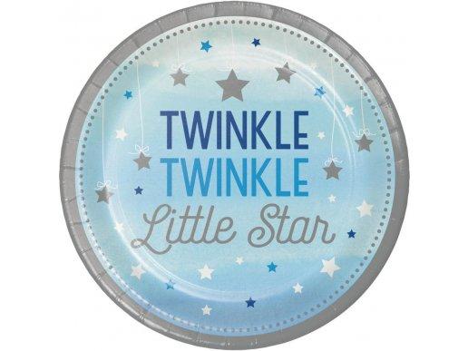 Μικρό Μου Αστέρι Μπλε Μεγάλα Χάρτινα Πιάτα (8τμχ)