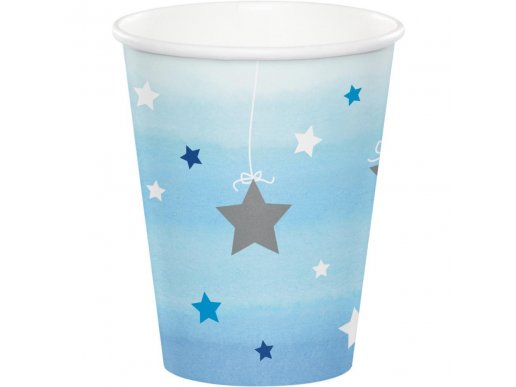 Twinkle Little Star Blue Paper Cups (8pcs)