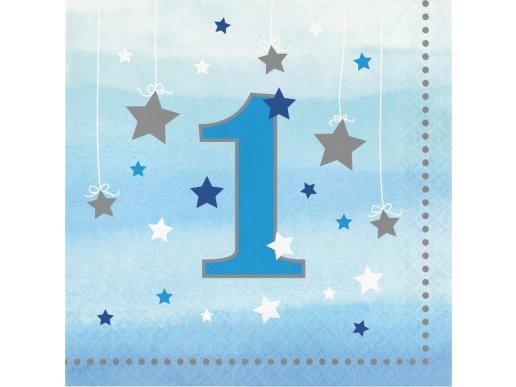 Μικρό Μου Αστέρι Μπλε Χαρτοπετσέτες Για Πρώτα Γενέθλια (16τμχ)