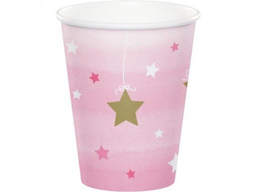 Twinkle Little Star Pink Paper Cups 8/pcs