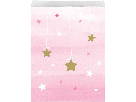 Twinkle Little Star Pink Paper Treat Bags 10/pcs