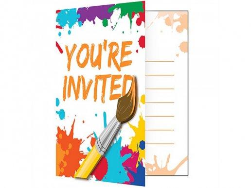 Art Party Invitations (8pcs)