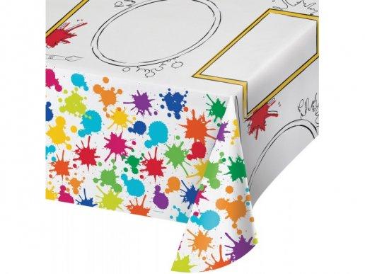 Art party Tablecover (137cm x 243cm)