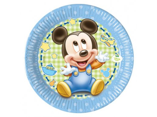 Baby Mickey Small Paper Plates (8pcs)