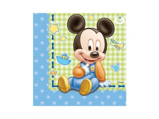 Mickey-Μίκυ Μπεμπέ Χαρτοπετσέτες (20τμχ)