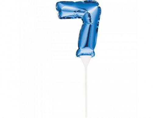 Μίνι Μπλε Foil Μπαλόνι Αριθμός 7