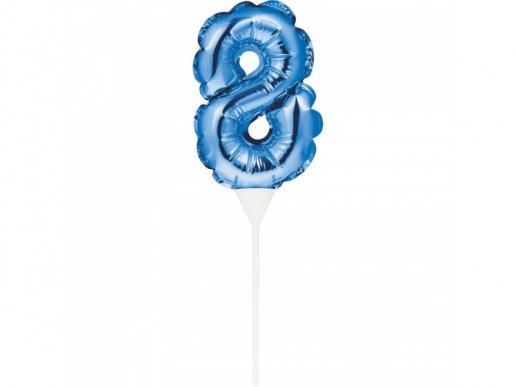 Μίνι Μπλε Foil Μπαλόνι Αριθμός 8
