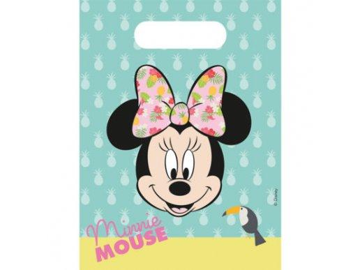 Minnie Tropical Plastic Party Bags 6/pcs