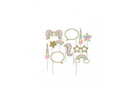 Unicorn with Stars Photo Booth Props 10/pcs