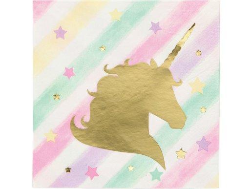 Unicorn with Stars Beverage Napkins 16/pcs