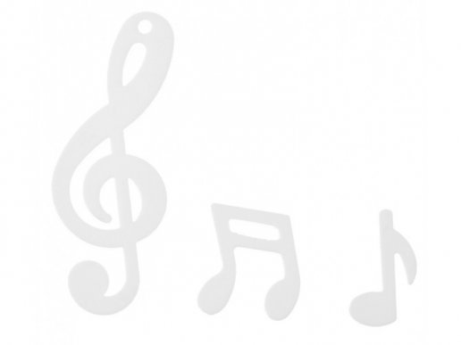 Musical Notes White Confetti (20gr)