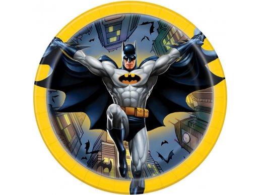 Μπάτμαν-Batman Μικρά Χάρτινα Πιάτα 8/Τμχ