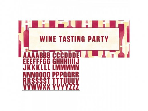 Beer and Wine Party Banner with Stickers
