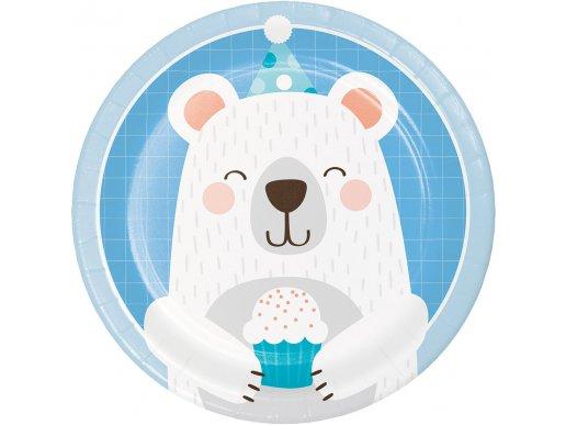 Blue Bear Small Paper Plates 8/pcs