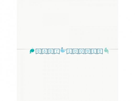 Blue Little whale Baby shower Letter Bunting (2,7m)
