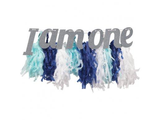 Γαλάζια Γιρλάντα Tassel I Am One