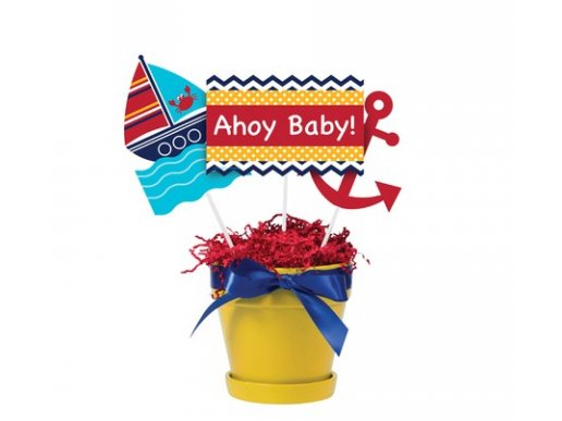 Ναυτικά Διακοσμητικά Στικς Ahoy Baby (3τμχ)