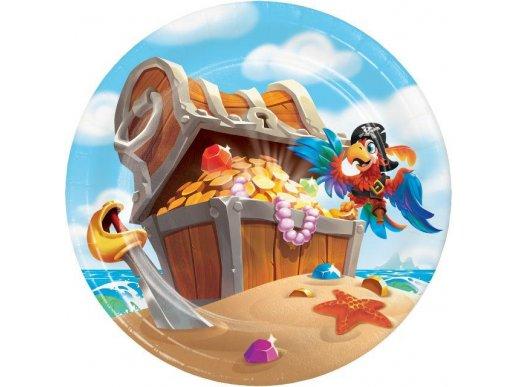 Pirate Treasure Small Paper Plates 8/pcs