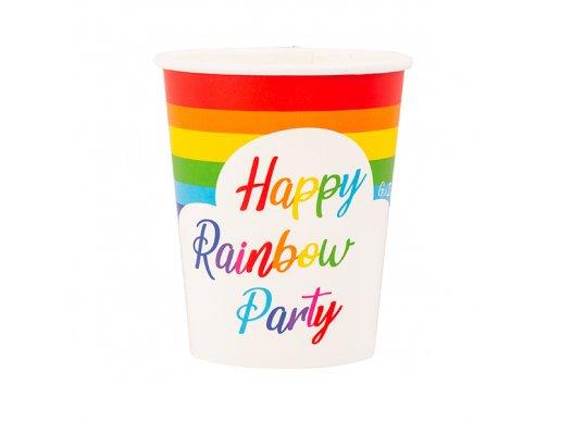 Rainbow Paper Cups 8/pcs